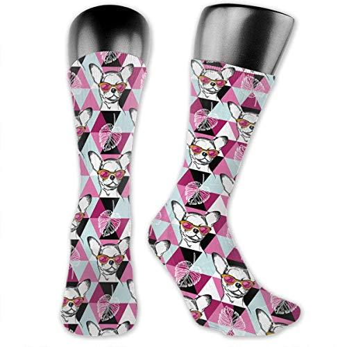 Wild Animals, Flowers and Leaves Unisex Crew Socks Casual Socks Dress Socks Boot Socks Crazy Socks Dress Socks Wild Flower Dress