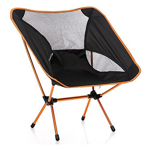 stuhl bequeme Angler-stuhl für faltbare platz für stuhl outdoor und indoor aktivitäten Camping, Wandern, Picknick, Angeln, Garten BBQ, Strand Reisen, Pause, Unterhaltung Orange (Chair Beach Nylon Folding)