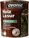 Avania Holzlasur Holzschutzlasur lösemittelhaltig Aussen Seidengläzend 2,5 Liter Farbton Wählbar, Farbe:Palisander