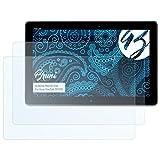 Bruni Schutzfolie für Asus VivoTab TF810C Folie, glasklare Bildschirmschutzfolie (2X)