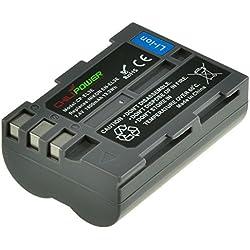 ChiliPower Nikon EN-EL3E 1800mAh Batterie pour Nikon D90, D700, D300, D80, D70, D50, D200, D300s, D100, D70s