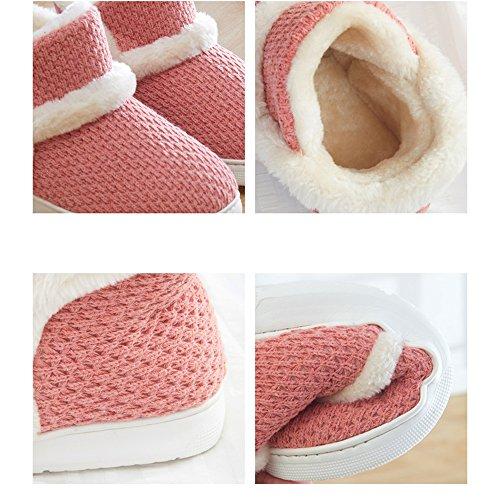 Mesdames pantoufles dhiver Tout enveloppé avec des pantoufles de coton couple Fond épais des chaussures de mois anti-dérapant intérieur (3 couleurs en option) (taille en option) ( Couleur : C , taill C