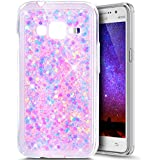 Paillette Coque pour Samsung Galaxy J1 Mini Prime,Galaxy J1 Mini Prime Coque Silicone Étui Ultra Mince Housse Brillants Coque Rose Etui en Silicone, Galaxy J1 Mini Prime Silicone Case Soft TPU Cover, Ukayfe Etui de Protection Cas en caoutchouc en Ultra Slim Souple Cristal Transparent Clair Gel TPU Bumper Bling Bling Glitter Sparkle Strass Coque Cas Case Cover Couverture Etui pour Samsung Galaxy J1 Mini Prime