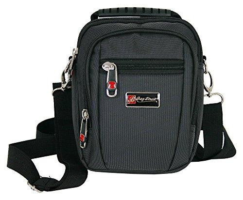 Kleine Umhängetasche für Männer Schultertasche Herren Tasche schwarz crossover Bag auch als Gürteltasche tragbar (2361)