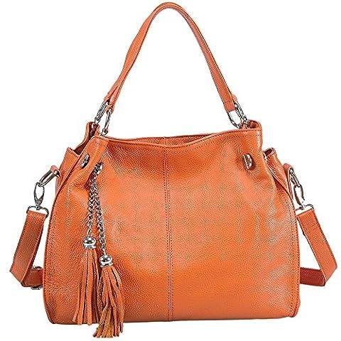 Sonyabecca Women's Soft Genuine Leather Hobo Bags Cross Body Shoulder Bag Ladies Handbags with