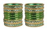 Shiv-Collection Gorgeous favoloso stile indiano verde braccialetto Partywear gioielli per donna e base metal, colore: Green, cod. FB-55(3)