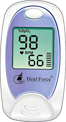 Heal Force Prince 100-A Finger Pulsoximeter zur SpO2-und PR zu Hause oder irgendwo Monitor -