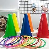 AIOJY Stapelturmspiel Eltern-Kind-Indoor-Wurfspielzeug Induktionspuzzle Koordination Kindergarten Outdoor-Strand Sportunterricht Spielzeug Plastikring Farbkugel