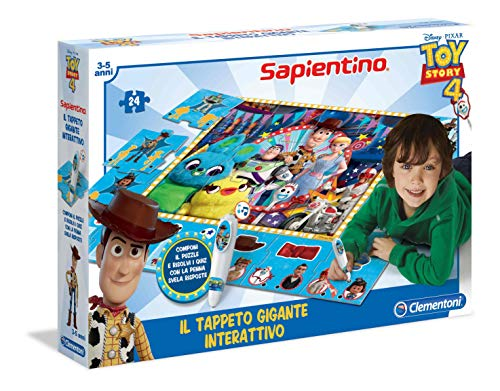 Clementoni - Sapientino Gigante Interactivo-Disney Toy Story 4, Alfombra Rompecabezas, Multicolor, 16234