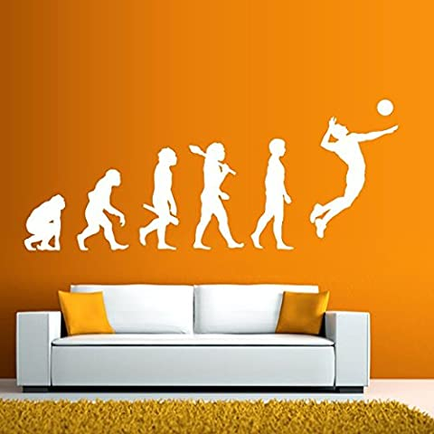 Evolution joueur de volley-ball - Sticker mural or 248 x 100 cm (Muraux Décoration Murale Stickers Wall Decal Autocollants Salon Chambre d'enfants Nursery Made in Germany)