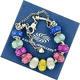 Lucido colorato Charm Bracelet - Ideale regalo per le donne e le ragazze - Viene fornito con confezione regalo