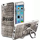 Wooden Personalised Phone Case Cover & Ring Stand For