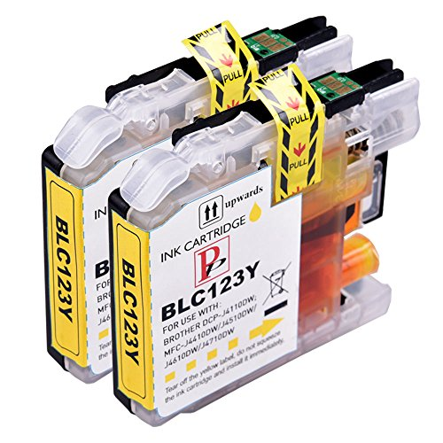 2Gelb PerfectPrint Kompatible Tintenpatronen ersetzen LC-123Für Brother DCP J132W J152W J552DW J752DW J4110DW/MFC J650DW J870DW J4410DW J4510DW J4610DW J4710DW J470DW Preis