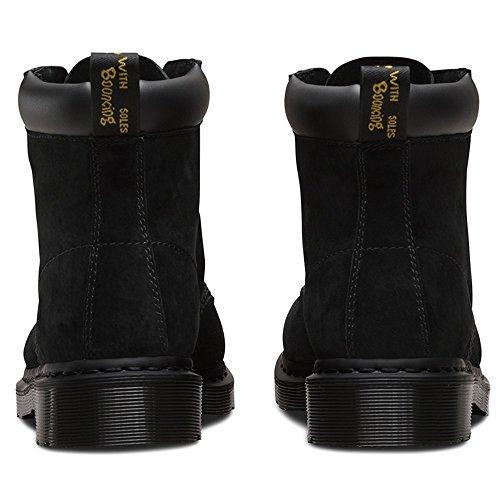 Dr.Martens Womens 939 6 Eyelet Soft Buck Nubuck Boots Noir