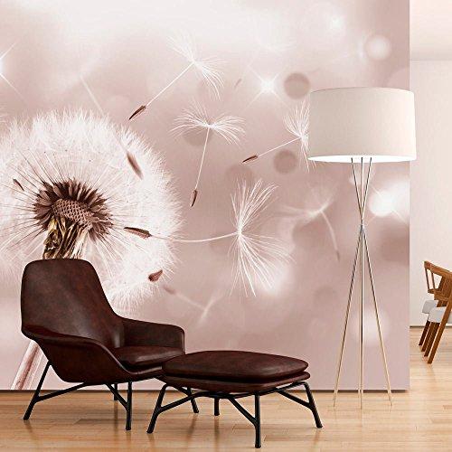 Fotomural 150x105 cm - 3 tres colores a elegir - Papel tejido-no tejido. Fotomurales - Papel pintado - Pusteblume Blumen Natur