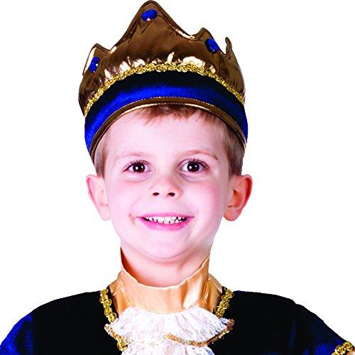 Dress Up America 696.0 Kids Shiny Exquisite Blue King Crown, unisex-child, Rot, Einheitsgröße