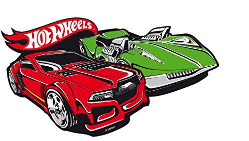 Hot Wheels Baby Kids 267558 Mattel Adhesivo Decorativo para Pared (30 x 25 cm)