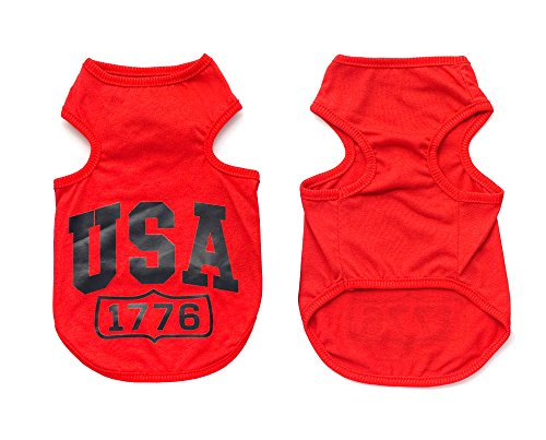 tore USA Cooles Jumper T-Shirt Hemd Weste Kleiner Hund Welpen Kleidung Hund Kostüm XS-XXL (Teacup Größe Hund Kostüme)