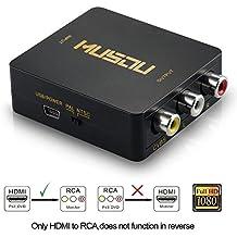 Musou Adattatore convertitore da HDMI a segnale AV CVBS RCA Audio video PAL+NTSC