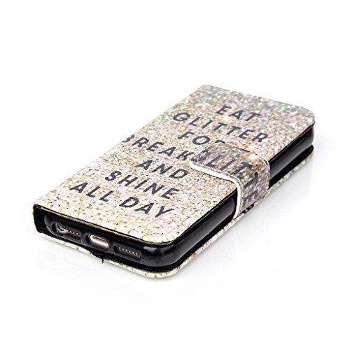 Forepin® Ultra Fine Portefeuille Flip Étui Coque Housse En Cuir PU pour Apple iPhone 5C Folio Clapet Housse de Protection avec Fonction Stand et Fentes de Carte de Crédit Wallet Cover Case + Stylet -  Motif 4