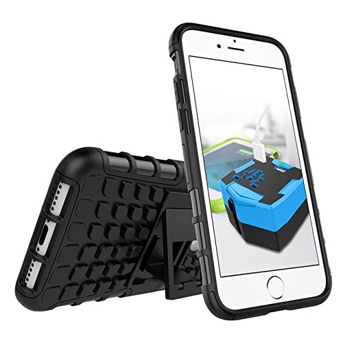 E-Axes Hybrid Armor Design with detachable and standup feature defender rugged dual layer protective shell hard back cover case for Apple iPhone 7