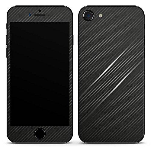 Apple iPhone SE Case Skin Sticker aus Vinyl-Folie Aufkleber Carbon Schwarz Look Muster DesignSkins® glänzend