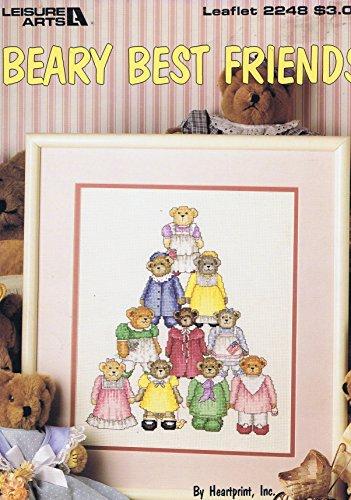 CafePress T Best Buddies Kreuzstich Diagramm Muster Pyramide der Mädchen Teddies (Kreuzstich Leaflet)