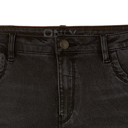 Only, Jeans Slim Donna Nero (Black)