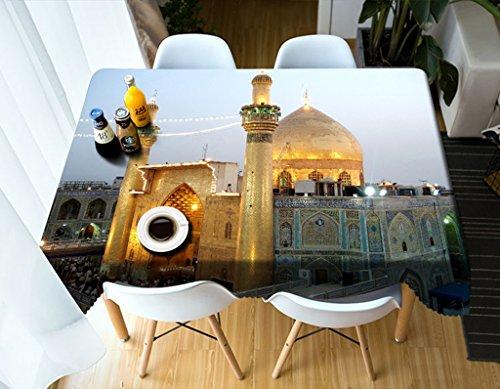 Qiao jin Manteles Manteles rectangulares - 3D Landscape Series Tablecloth  Vc20 - Respetuoso con el Medio Ambiente y sin Sabor - Impreso digitalmente  a
