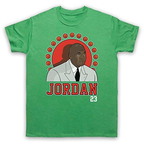 Inspiriert durch Crying Jordan Michael Jordan 23 Basketballer Award Inoffiziell Herren T-Shirt Grun