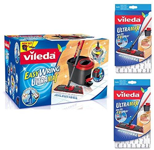 Mocio Vileda Con Spruzzino.Pack Completo Vileda Vileda Easy Wring Ultramat 2 Stuck Wischbezug