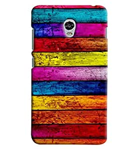 Omnam Stripes Colored Pattern Printed Back Cover Case For Lenovo Vibe P1