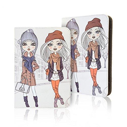 Universal Design Fashion Tasche für verschiedene Tablet Modelle Schutz Case Hülle Cover (7 / 8 Zoll, Girls)