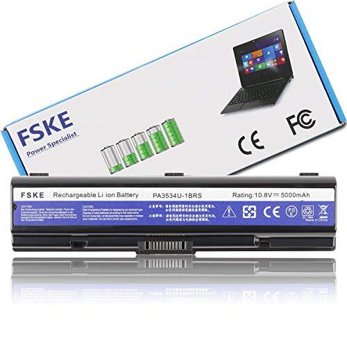 FSKE® PA3534U-1BRS PA3534U Laptop Akku für Toshiba Satellite P300 L300 L450 L500 L550 L555 L350 A200 A205 A210 A500 Dynabook Equium Notebook Battery, 10.8V 5000mah 6-Zellen