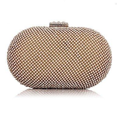 pwne L. In West Woman Fashion Diamanten Abend Tasche Gold