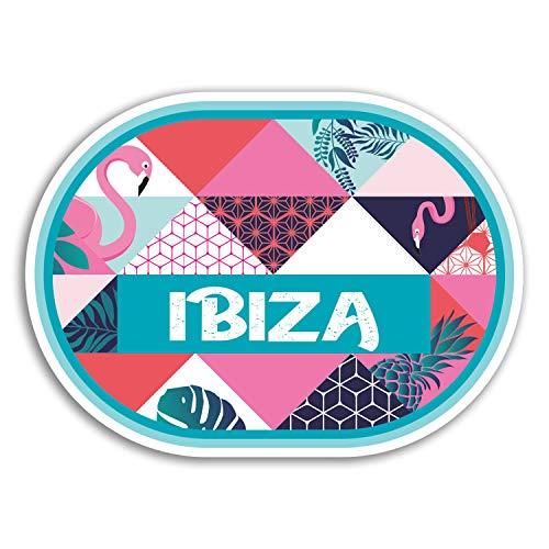 2 x 10cm Tropical Ibiza Vinyl Aufkleber - Reise-Aufkleber Laptop Gepäck # 18186 (10 cm breit) -