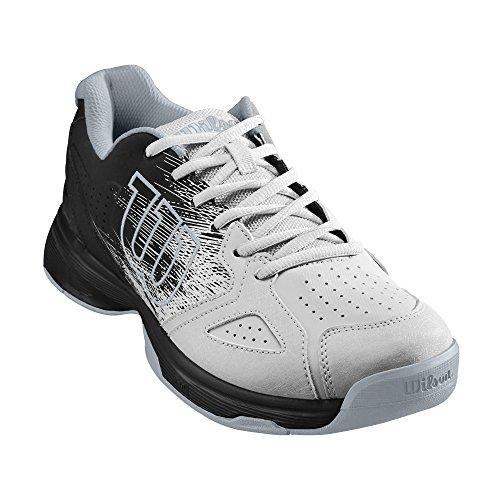 Wilson KAOS STROKE, Scarpe da Tennis Uomo, Bianco/Nero (White Black), 44 EU