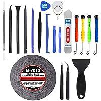 MMOBIEL Kit Complet d'outils avec 21 pièces pour Ouverture et réparation de Smartphones/Tablettes