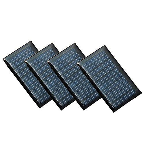 Especificaciones  Material: policristalino Potencia máxima: 0.15W cada celda  Tensión de trabajo: 5V  Corriente máxima: 30mA  Corriente de cortocircuito: 50mA  Voltaje de circuito abierto: 5.5V Tamaño de la unidad: 53mm x 30mm x 2mm  Peso unitario: 1...