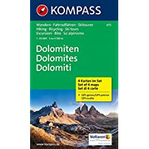 Dolomiten - Dolomites - Dolomiti: Wanderkarten-Set in der Schutzhülle. GPS-genau. 1:35000 (KOMPASS-Wanderkarten, Band 672)