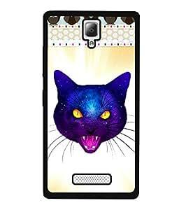 Fuson 2D Printed Cat Designer back case cover for Lenovo A2010 - D4524