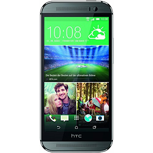 HTC One M8S Smartphone (5 Zoll LCD-Display (12,7 cm), 16 GB interner Speicher, 2 GB RAM, 13 Megapixel-Kamera, Android 5.0) Metalisches Grau