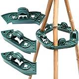 2 Stück Plastik Kletterhilfe für Pflanzenstützen, Bohnen ring für Bambusstöcke Rankgerüste, Bambus Rankhilfen Set als Pyramide