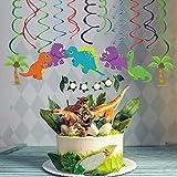 Sayala 30 Stücke Deko-Set * Dinos * für Kindergeburtstag und Motto-Party // Dinosaurier Deckenhänger Spiral Girlanden für Dinoparty Jungen Kindergeburtstag Party