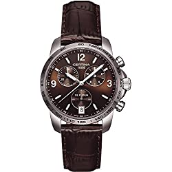 Certina C001.417.16.297.00 Men's Watch XL Chronograph Quartz Leather Strap