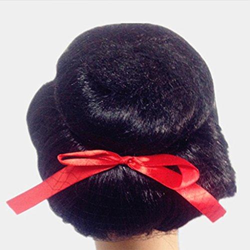 MFFACAI Cosplay Satz von Party Perücken, Hochtemperatur Seide, Funny Savage und so weiter Funny Halloween Masquerade Show Requisiten, Geeignet für ca. 55-59 Kopfumfang, Geisha Geisha Japan