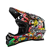 O'Neal Backflip RL2Evo Crank Fahrrad Helm, Kinder, Kinder, Backflip Rl2 Evo Crank, negro (black/multi), L (51-52 cm)
