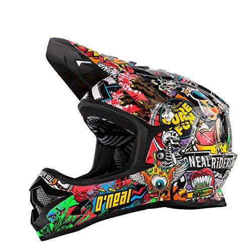 O 'Neal Backflip RL2Evo Crank Fahrrad Helm, Kinder, Kinder, Backflip Rl2 Evo Crank, Negro (Black/Multi), L (51-52 cm) (Kind Helm Fahrrad)
