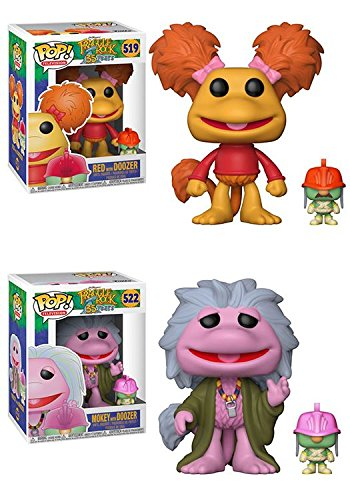 Funko POP Fraggle Rock Red with Doozer Mokey with Doozer Jim Henson Stylized Vinyl Figure Set NEW