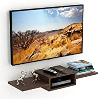 Bluewud Aero TV Entertainment Unit/Wall Set Top Box Stand Shelf (Standard Wenge)